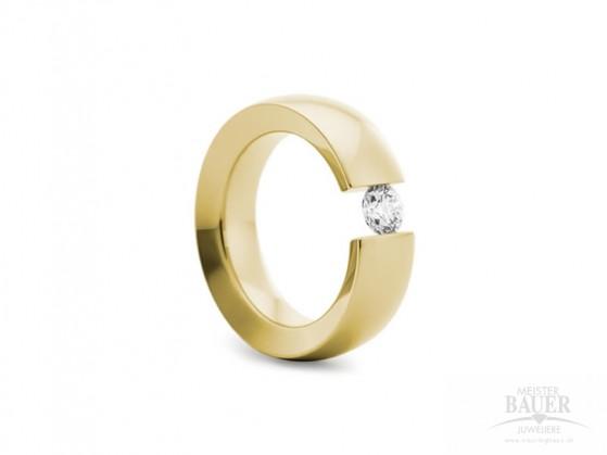 Spannring 585/000 Verlobungsring Gelbgold