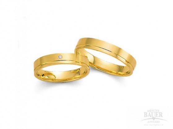 Trauringe Partnerringe Gelbgold 585/-, Paarpreis