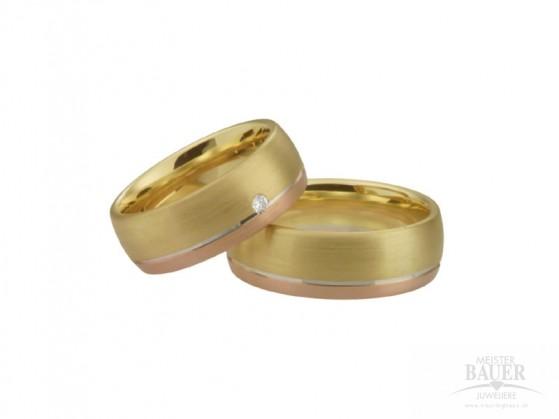 Trauringe Partnerringe Gelbgold Rotgold Weißgold 585/000