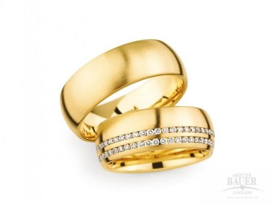 Trauringe Partnerringe Gelbgold 750/000 , Paar