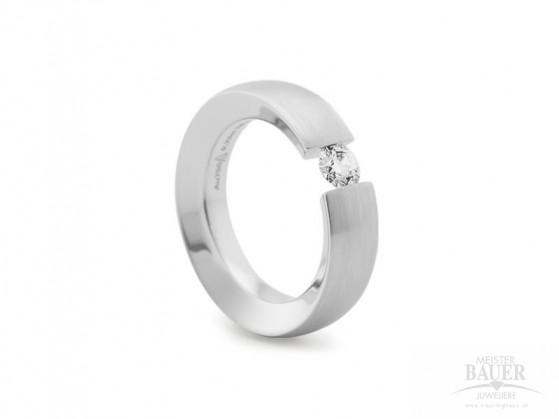 Spannring 585/000 Verlobungsring Weißgold