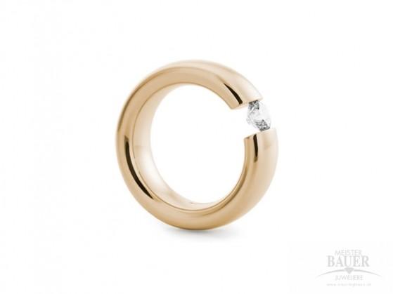 Spannring 585/000 Verlobungsring Roségold