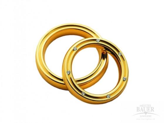 Trauringe Partnerringe Gelbgold 585/-, Paar
