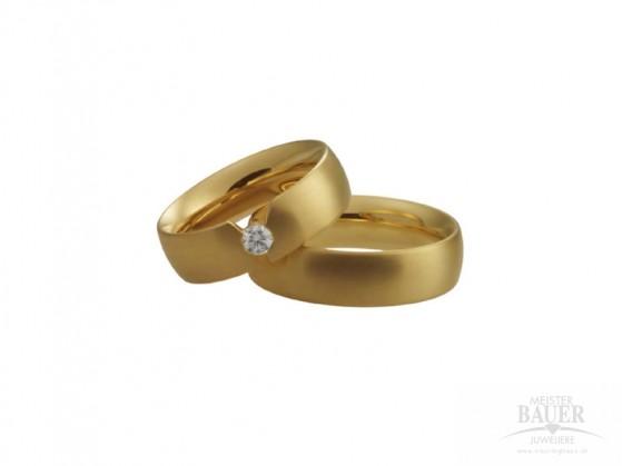 Trauringe Partnerringe Platin 950/- Gelbgold 750/-, Paar