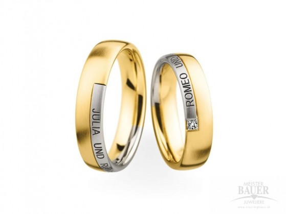Trauringe Partnerringe Gelbgold 750/000 Platin 950/000