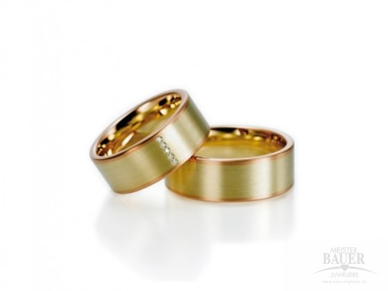 Trauringe Partnerringe Rotgold Gelbgold 585/000