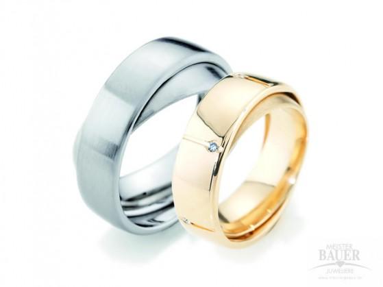 Partnerringe Freundschaftsringe Stahl / Gold 585/000