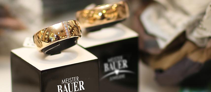 Schaufenster Trauringhaus - Meister Bauer Juweliere Frankfurt