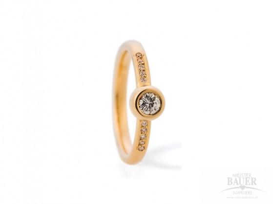 Beisteckring 585/000 Verlobungsring Gelbgold