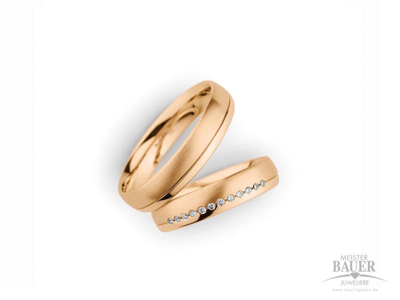 Trauringe Partnerringe Rosegold 585/000