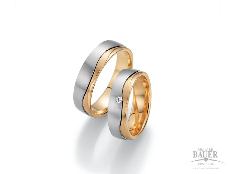 Trauringe Rose/-Weißgold 585/000