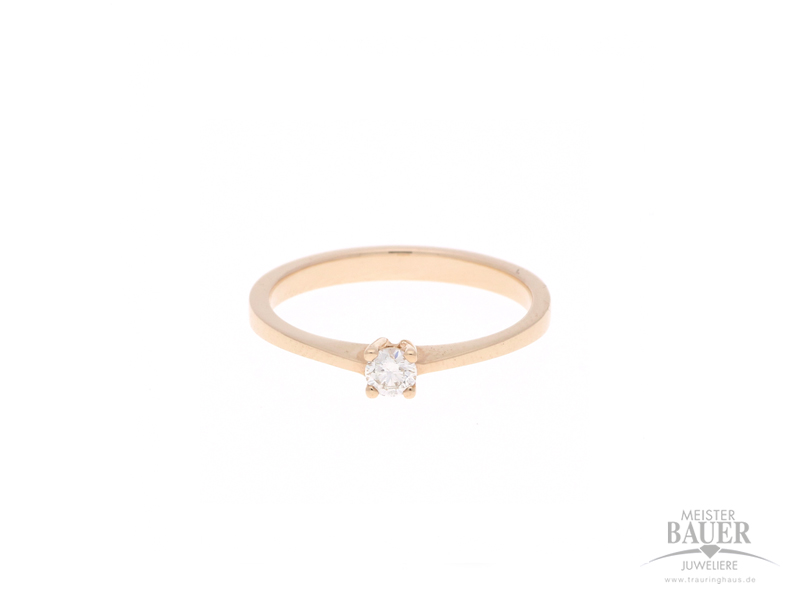 Verlobungsring 585/- Rotgold