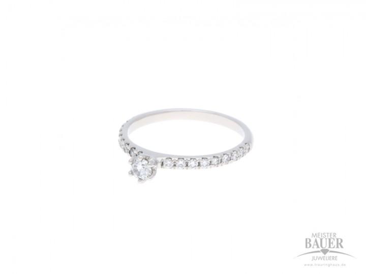 Verlobungsring 585/- Weißgold