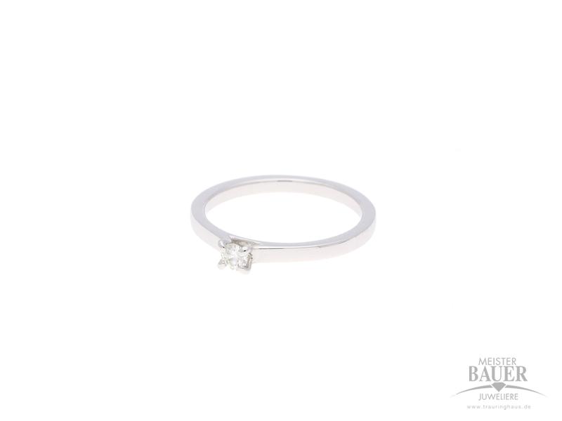 Verlobungsring Weißgold 585/-