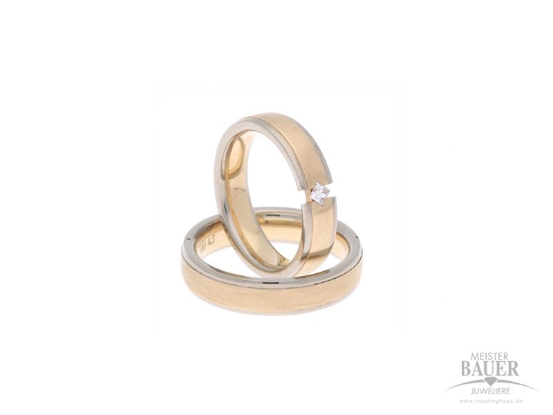 Trauringe Rosé/-Weißgold 585/000