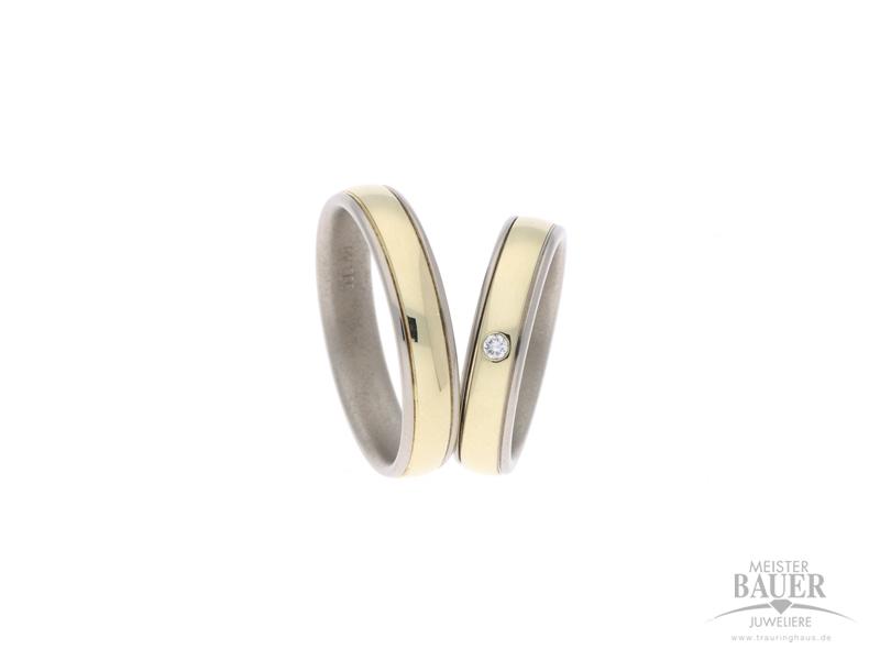 Trauringe Gelb/-Weißgold 585/-